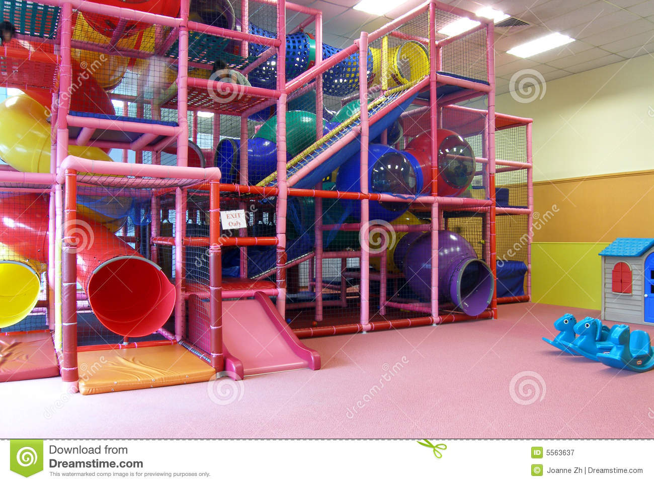 Indoor children playground in room stock image image for Indoor play structure prices