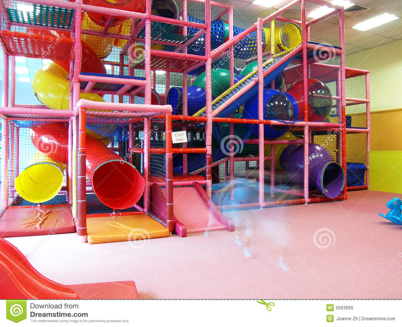 Indoor Children Playground Structure Royalty Free Stock