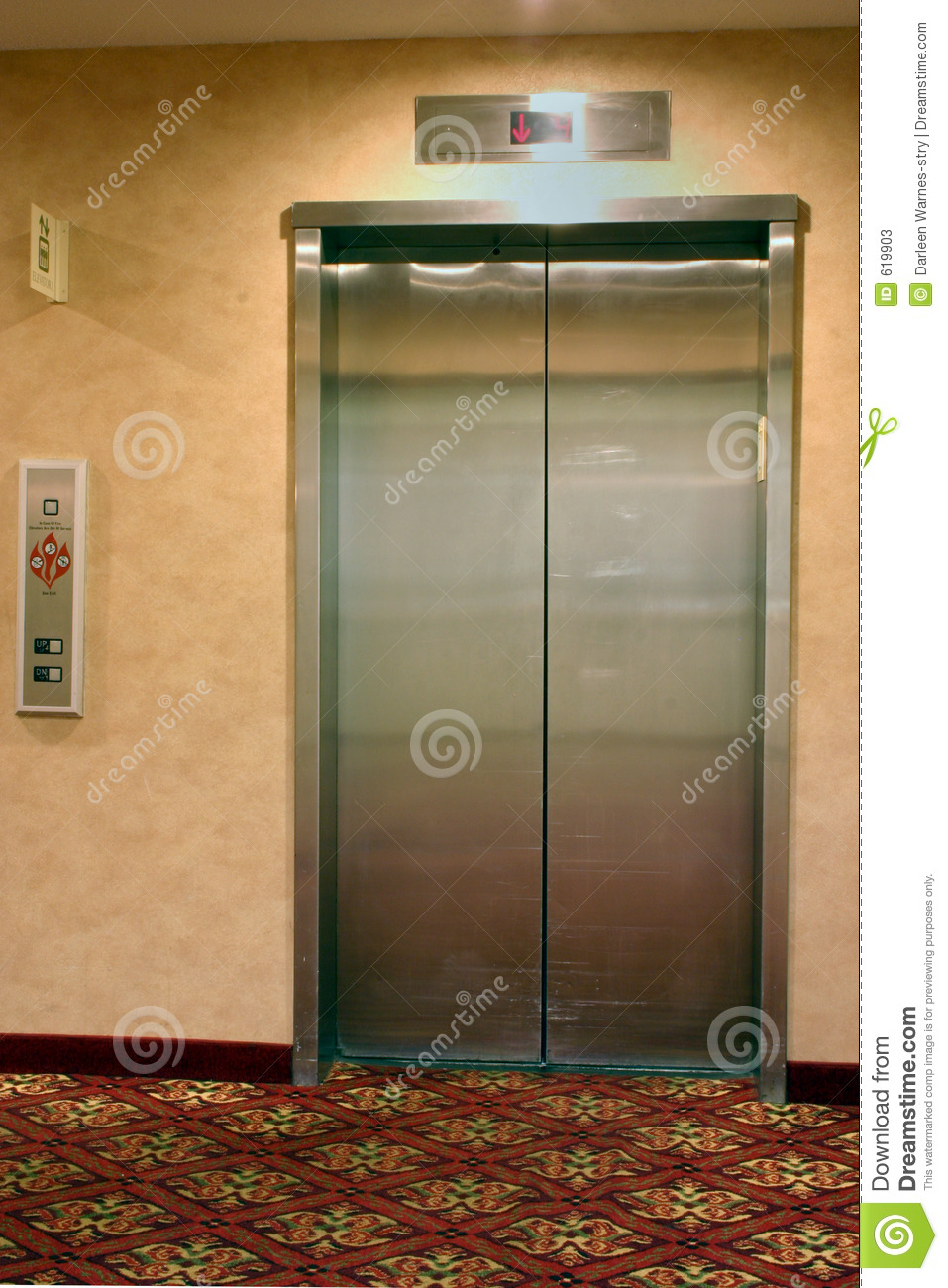 indoor elevator stock image image of elevate brushed