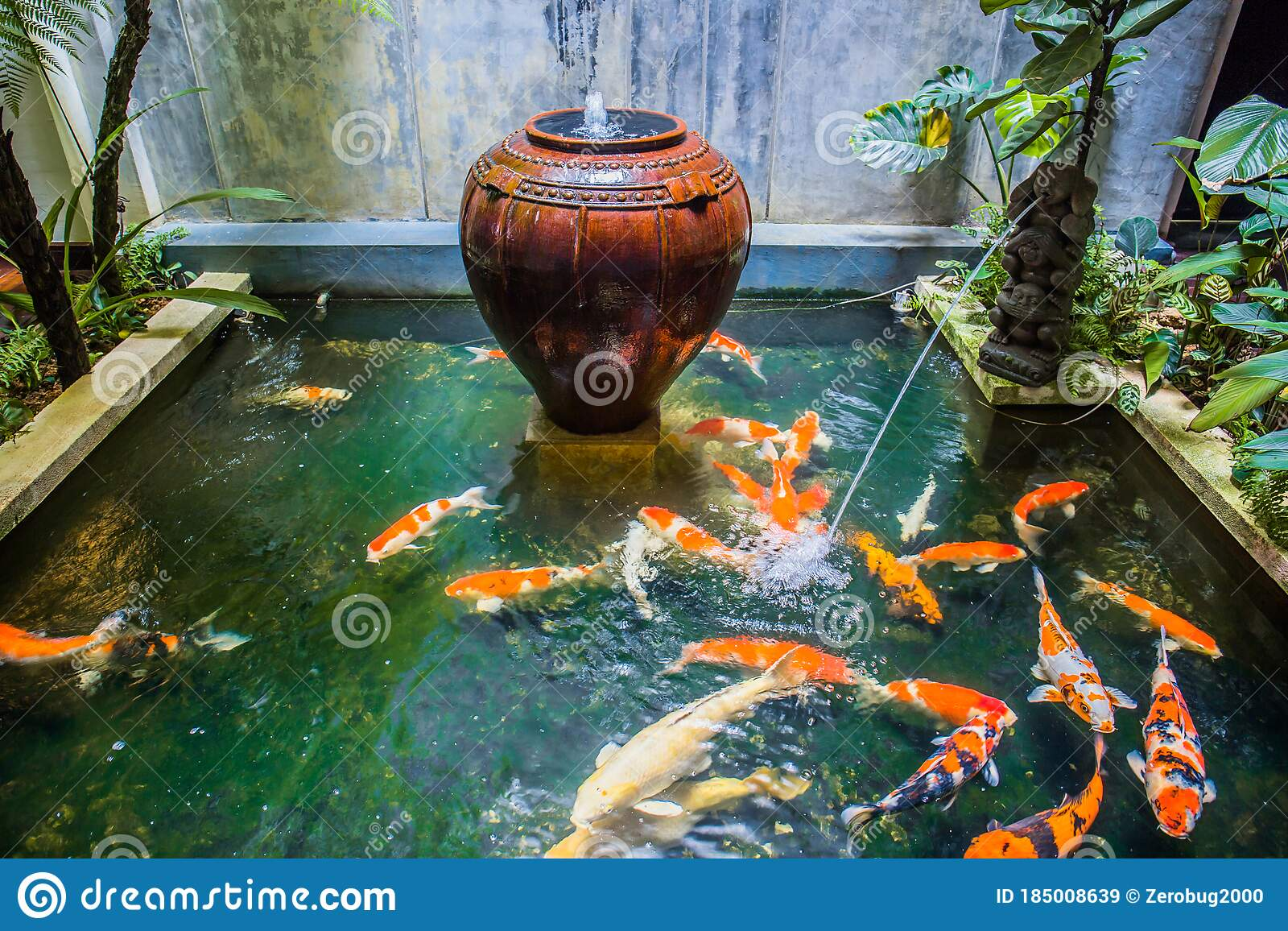 Fish Pond Stock Image Image Of Water Melaka Pond 185008639