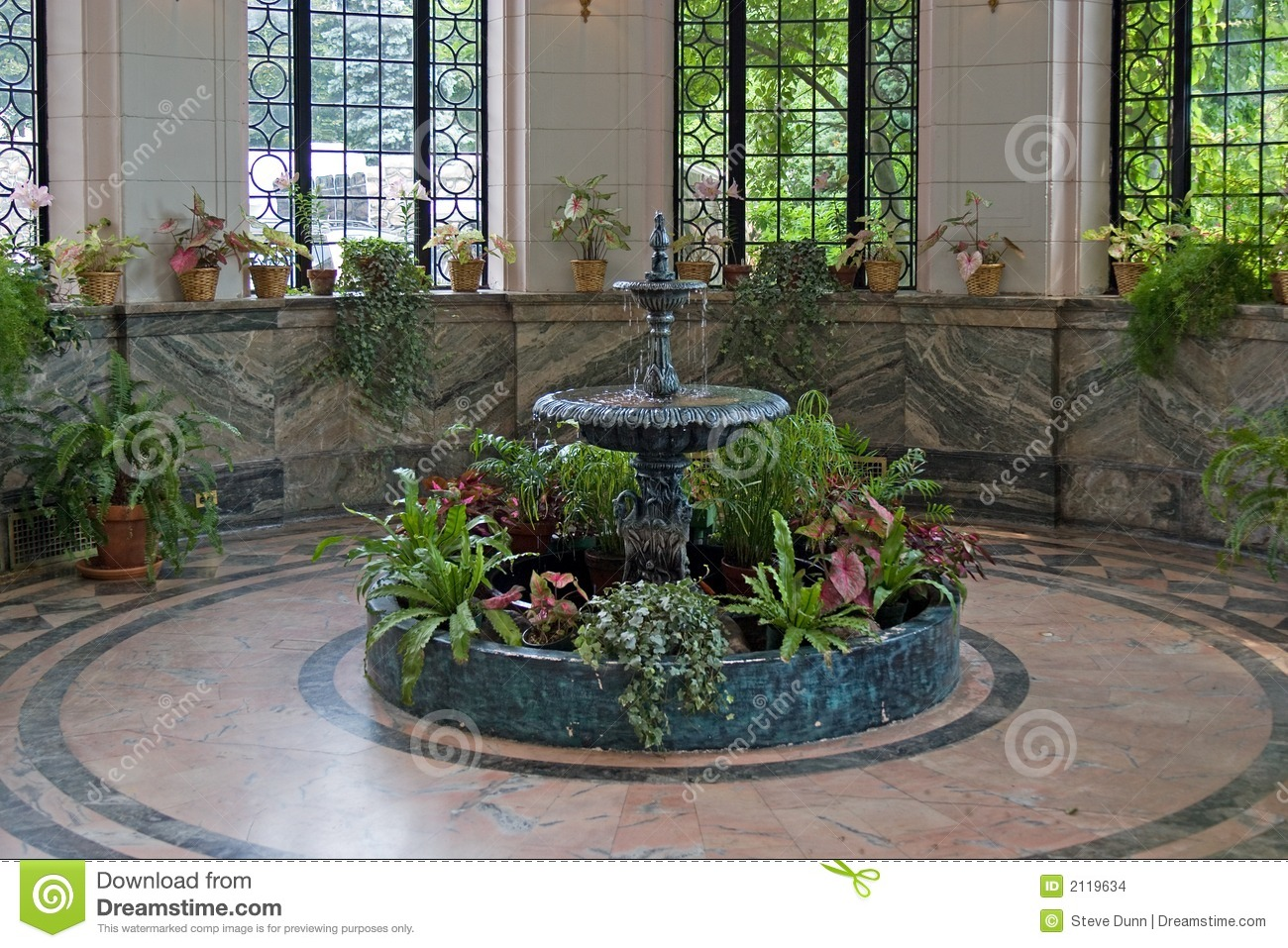 Indoor Fountain Stock Images Image 2119634
