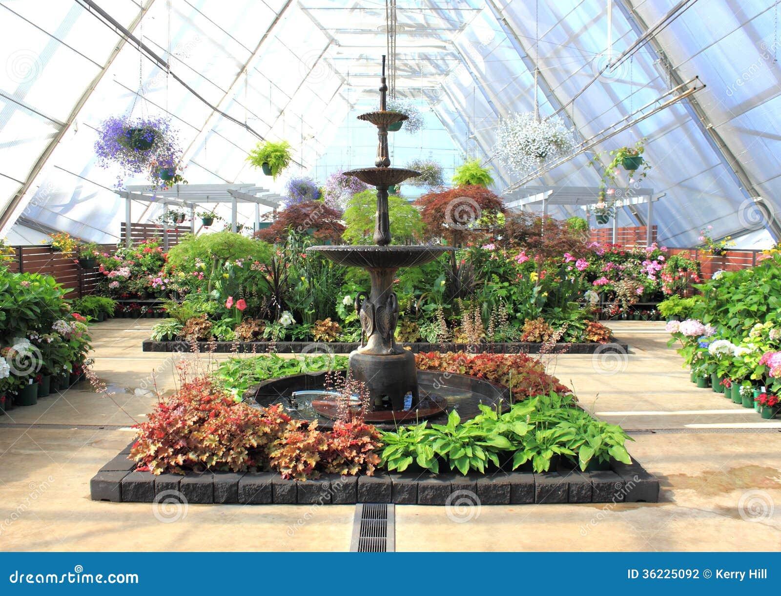 royaltyfree stock photo download indoor garden and water fountain