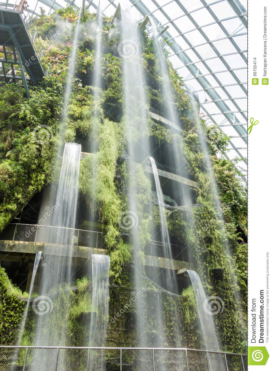 Royalty Free Stock Photo. Download Indoor Garden And Waterfall ...