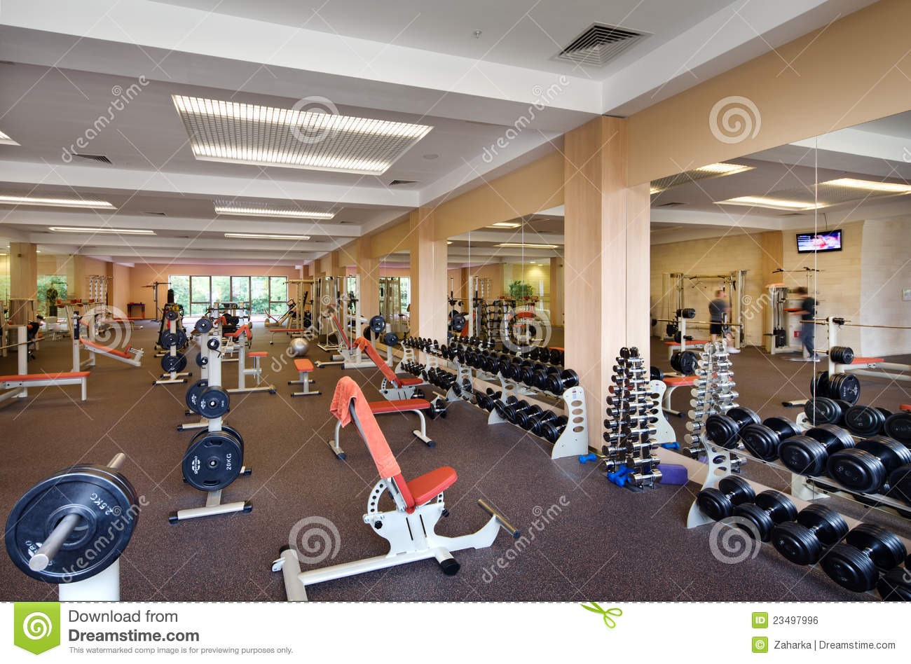 Indoor gym stock photo image of gymnasium kilograms