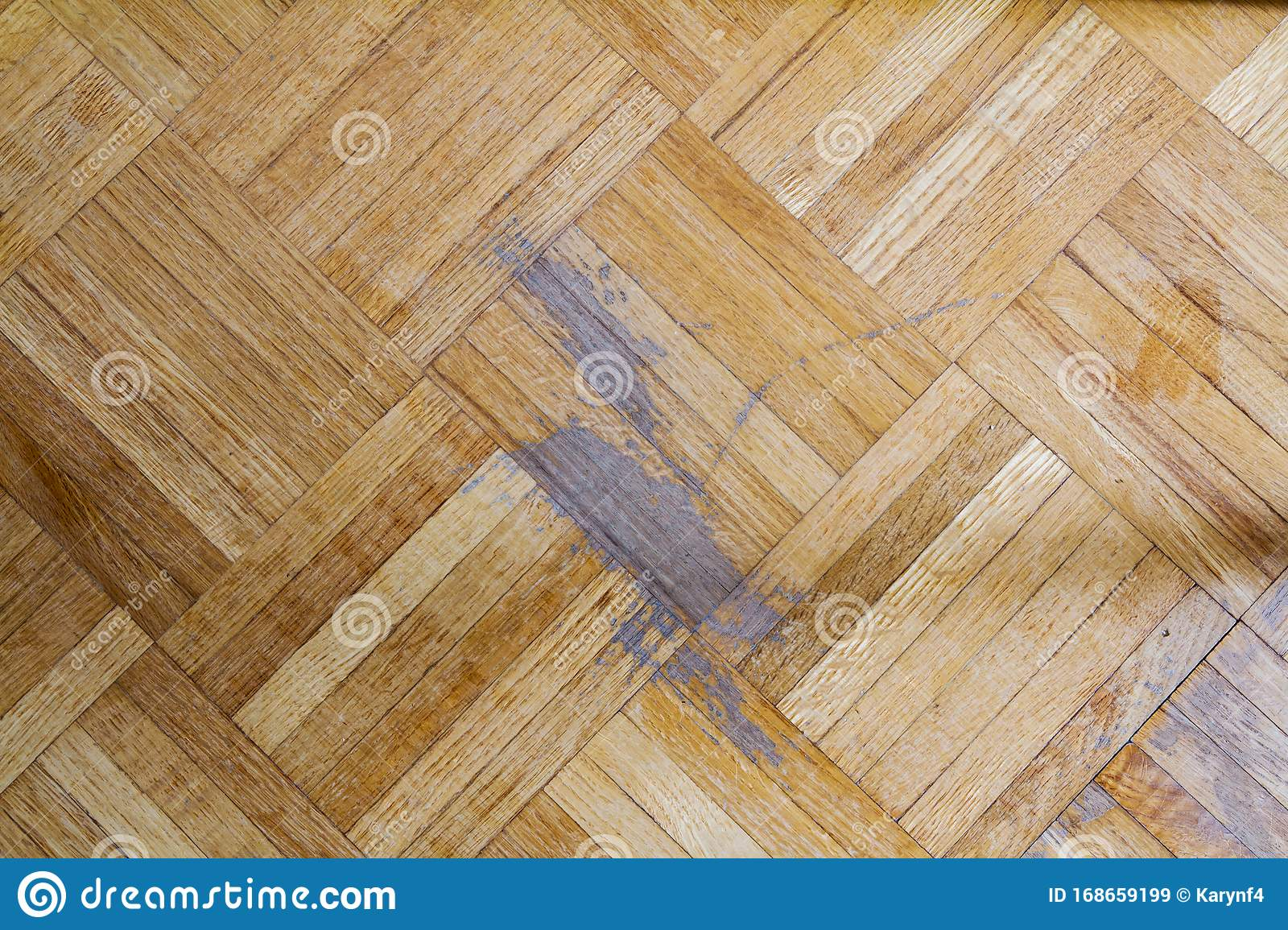 Old Parquet Floor With Scratch Marks Stock Image Image Of Board