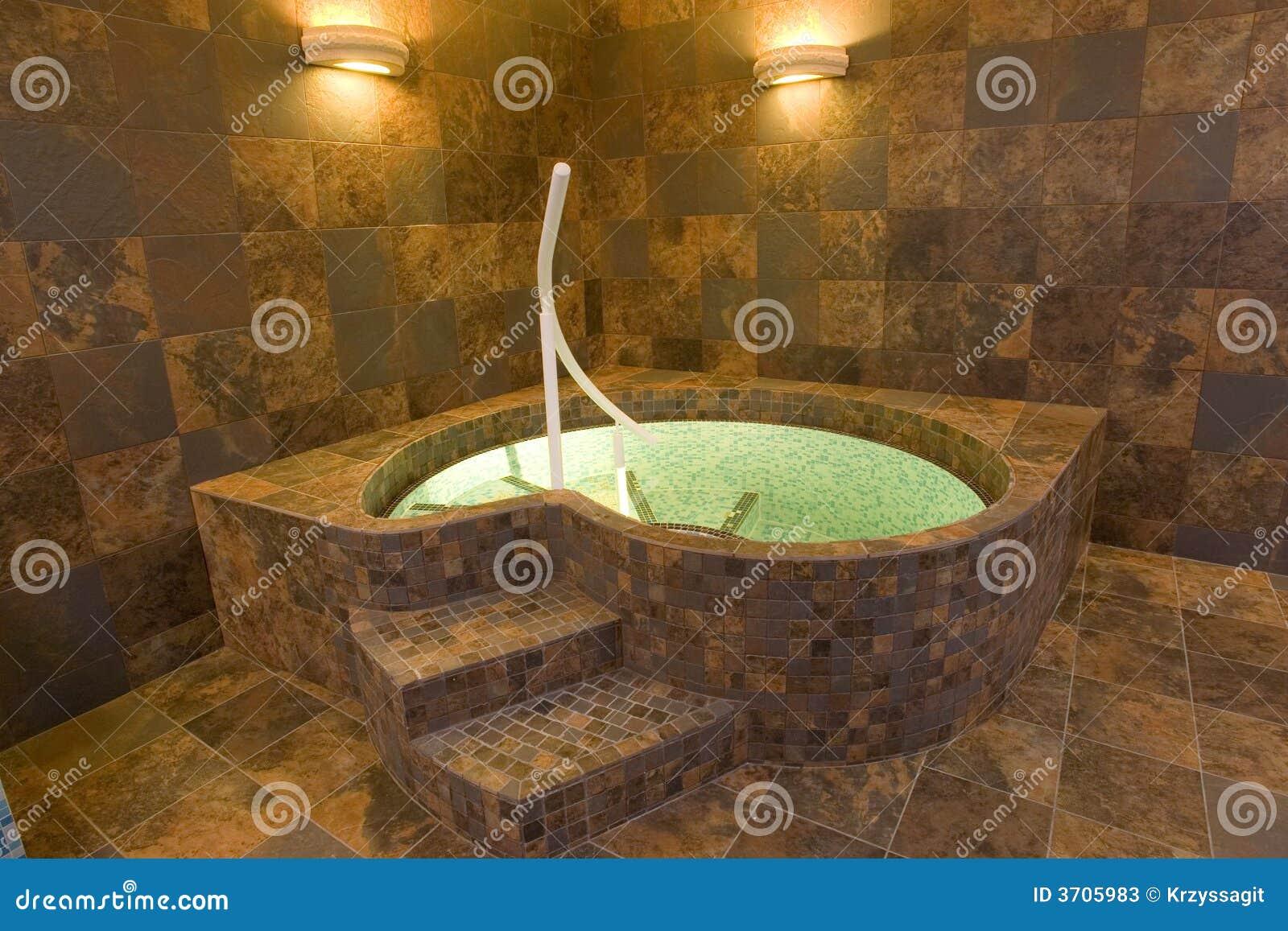 Indoor jacuzzi pool stock image. Image of decor, posh - 3705983
