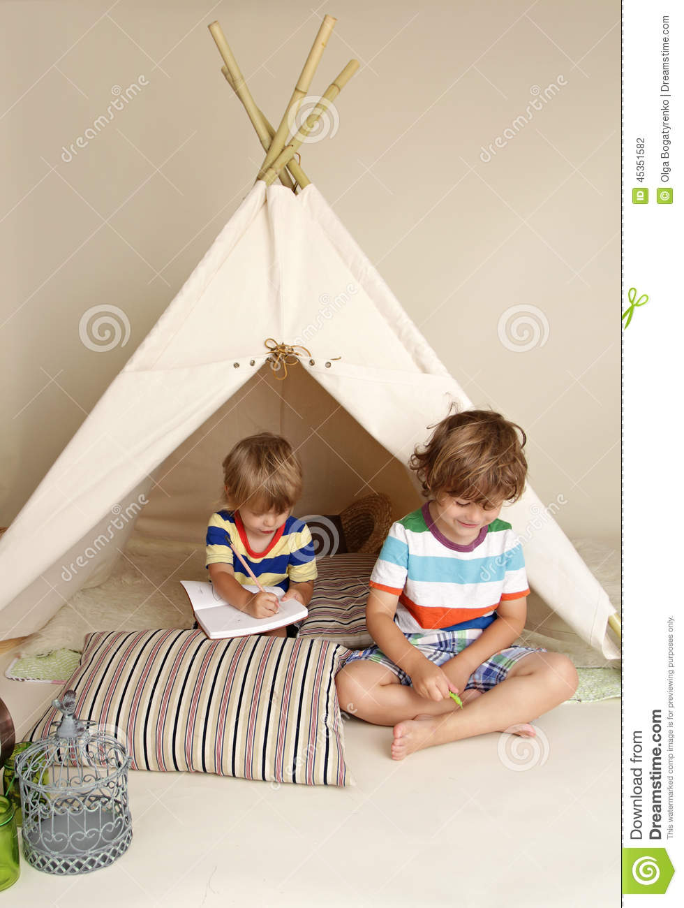 Teepee floor cushion