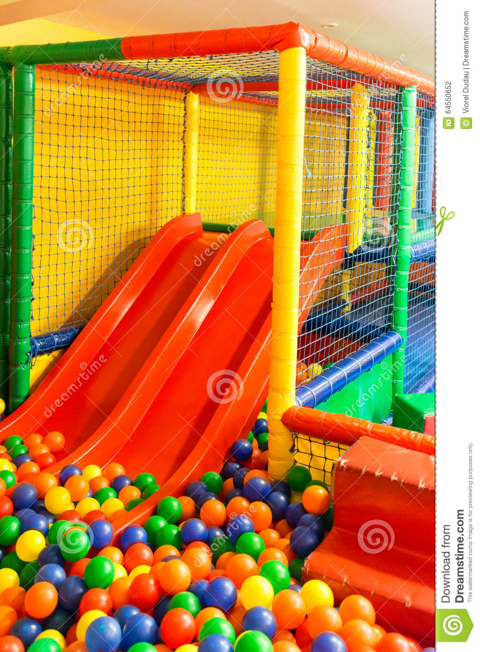 indoor playground stock photo  image of slides  colorful