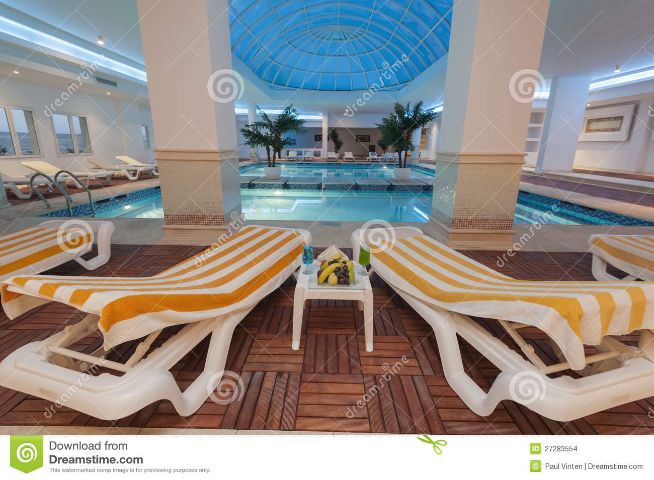 Indoor Pool At A Luxury Hotel Stock Photo Image 27283554