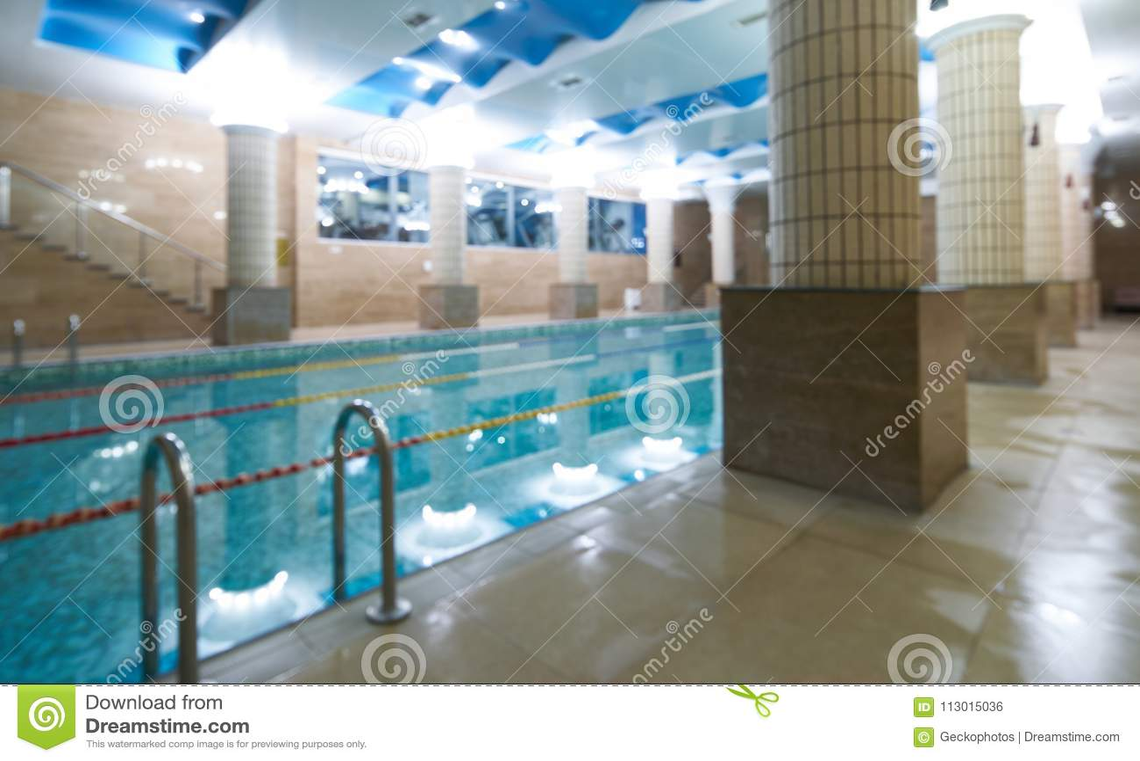 Indoor public swimming pool interior in fitness gym club stock photo image of indoor health for Alderwood pool public swim times