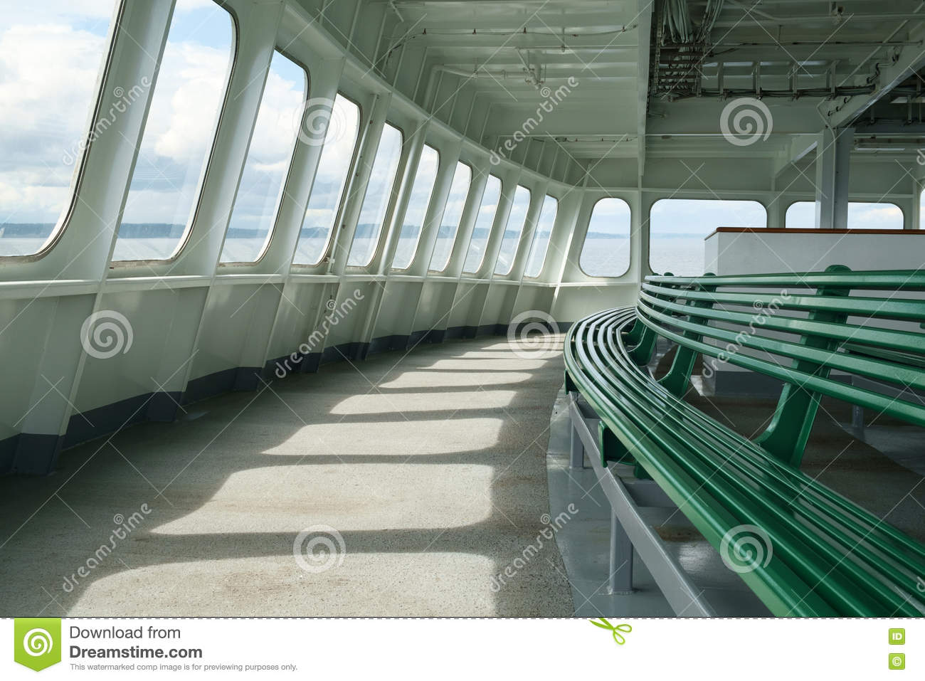 Miraculous Indoor Seating Bench At Front Of Ferry Boat Stock Photo Gmtry Best Dining Table And Chair Ideas Images Gmtryco