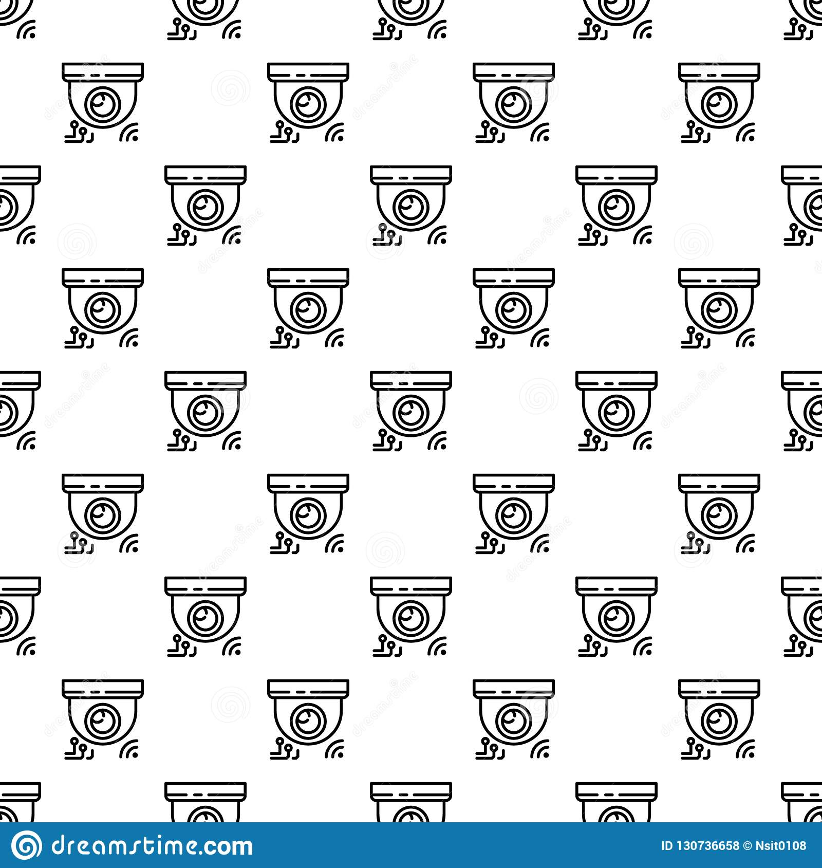Indoor security camera pattern seamless