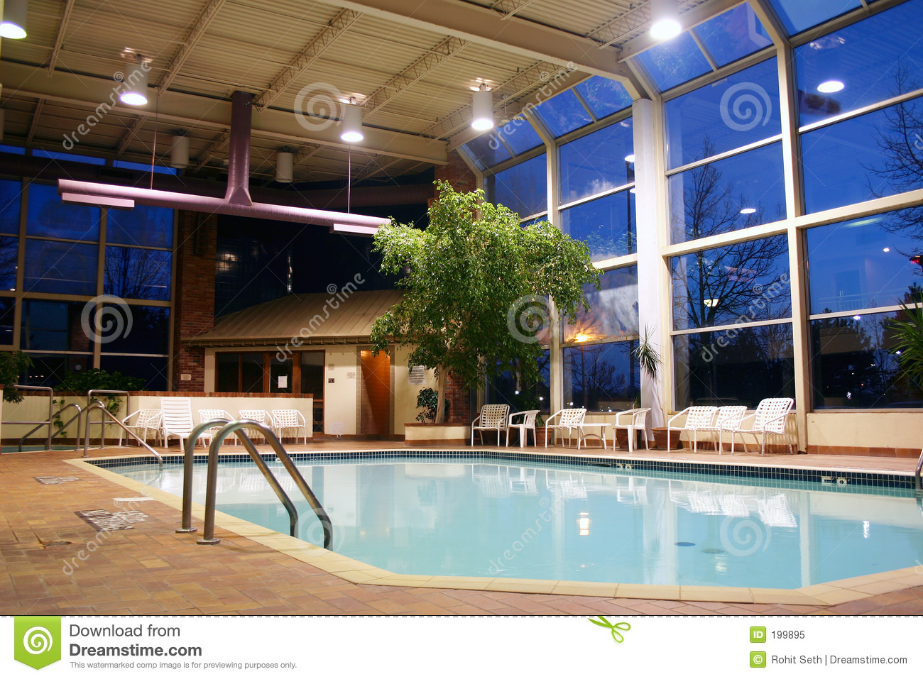 Indoor Swimming Pool Stock Image Image Of Condo Swim 199895
