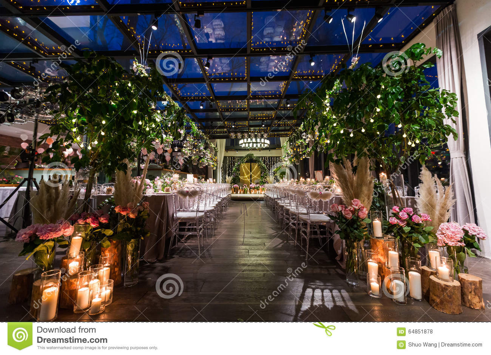 Indoor Wedding Scene Stock Photo Image Of Dishware