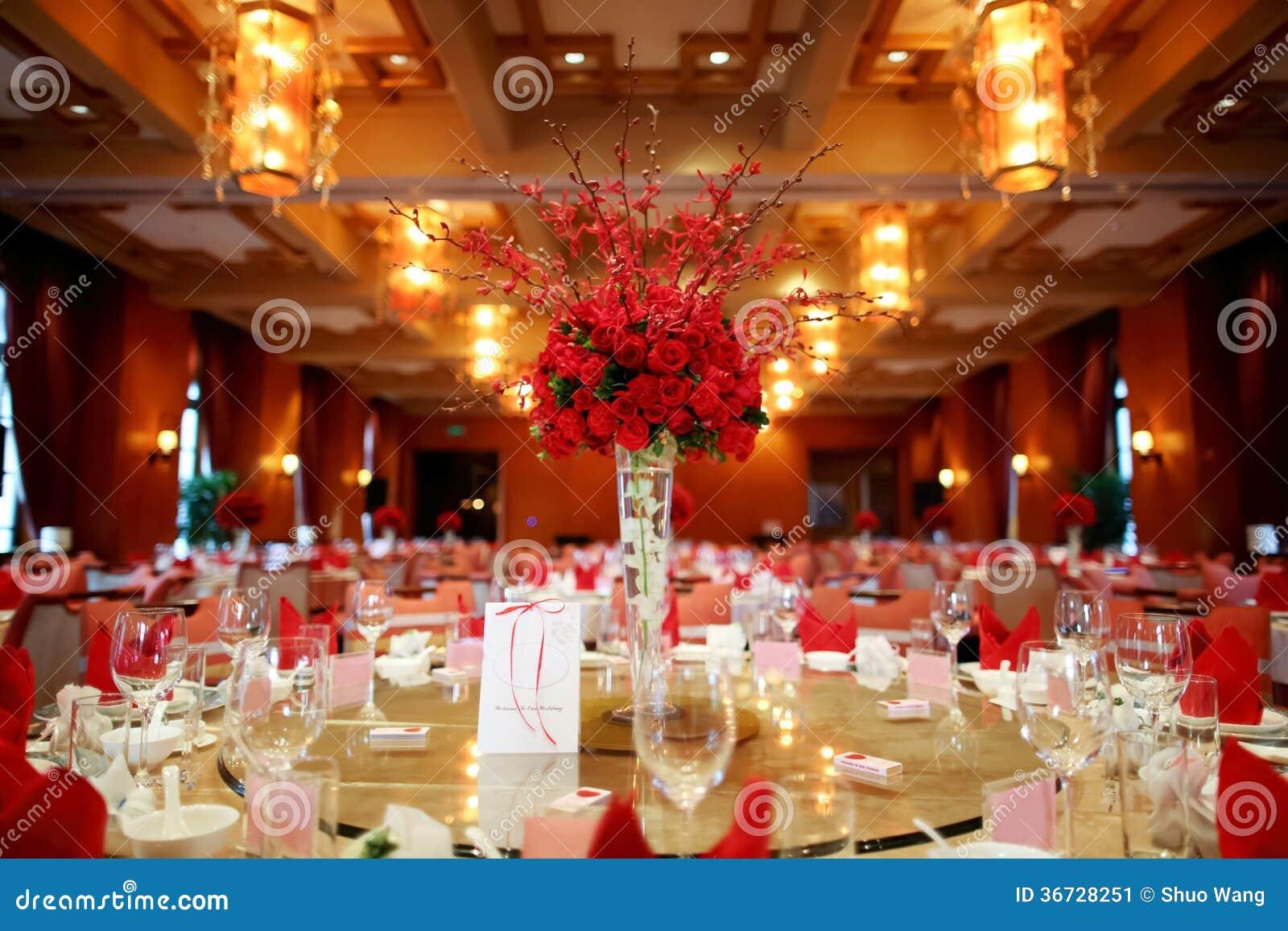 Indoor Wedding Scene Stock Image - Image: 36728251