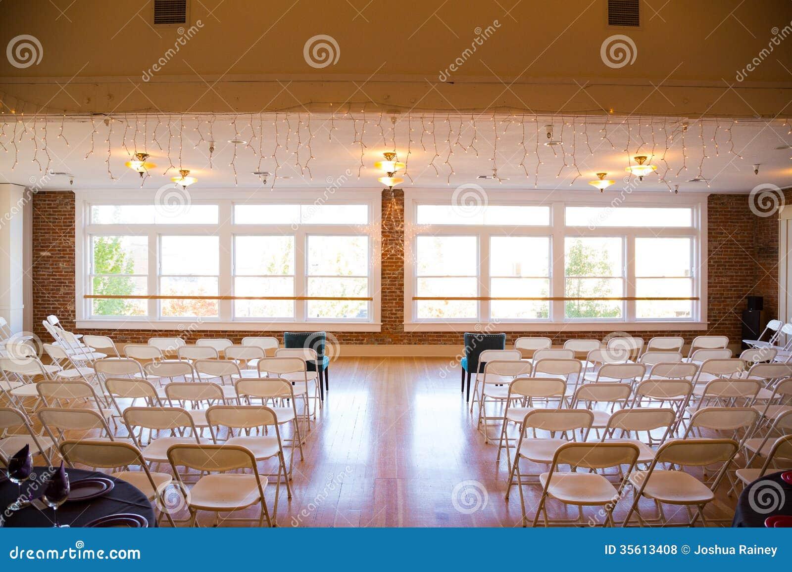 Indoor Wedding Venue Royalty Free Stock Photos