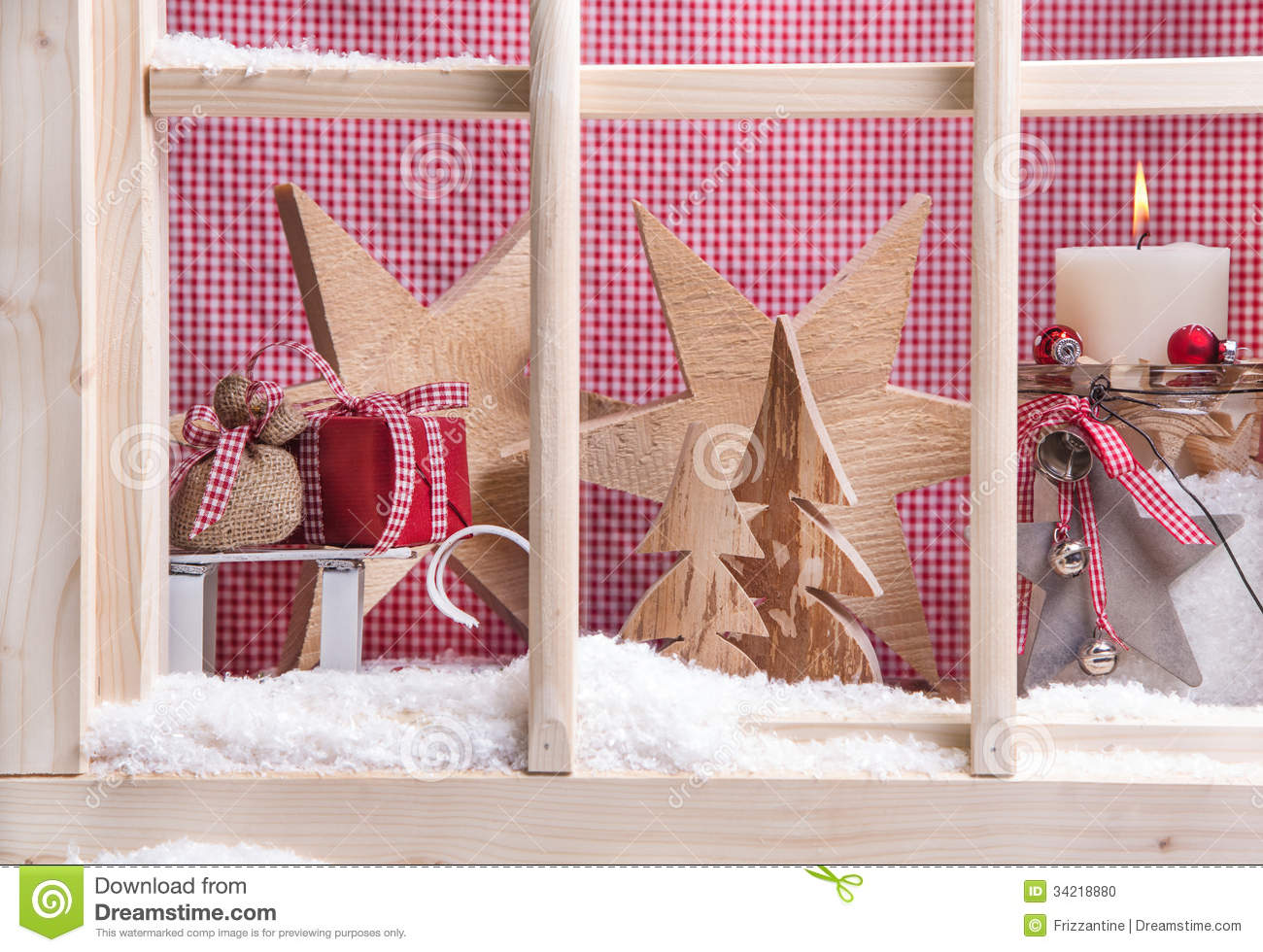 Indoor window sill christmas decoration gifts snow for Decoration on a present