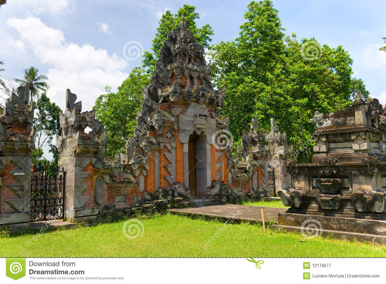 indu temple in ubud bali indonesia royalty free stock photography image 12179677. Black Bedroom Furniture Sets. Home Design Ideas