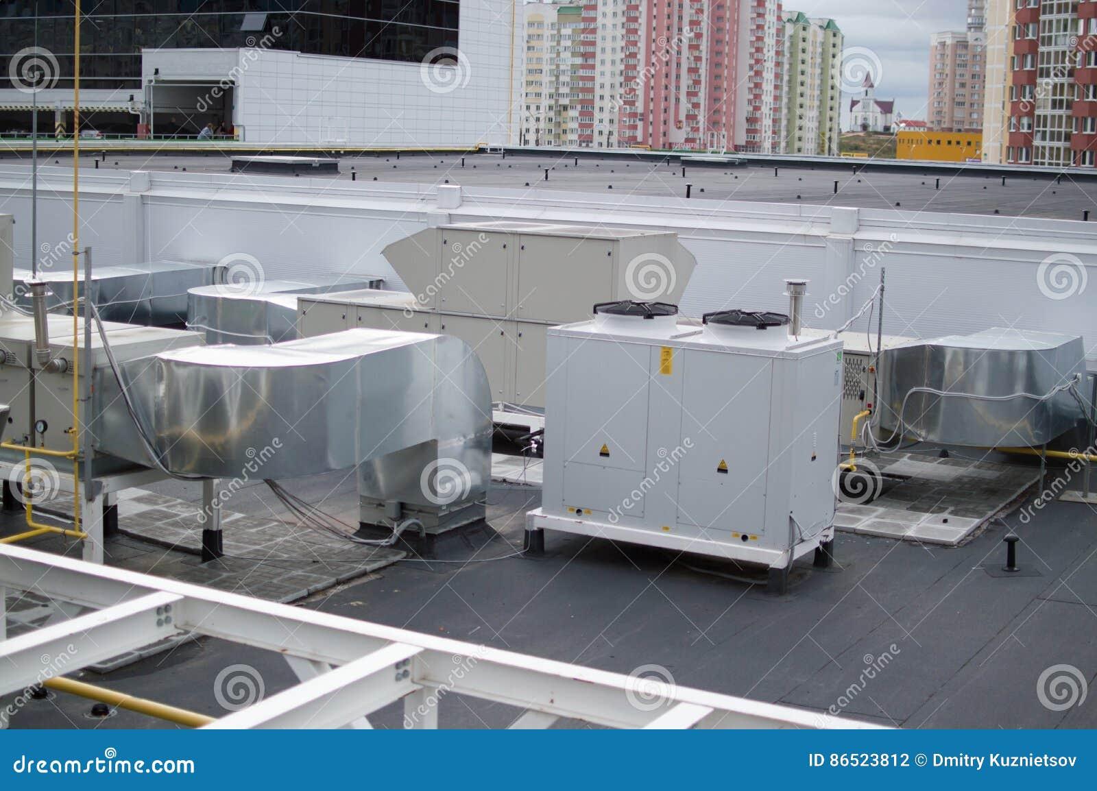 Industriële airconditioning, ventilatie en refrigent systemen