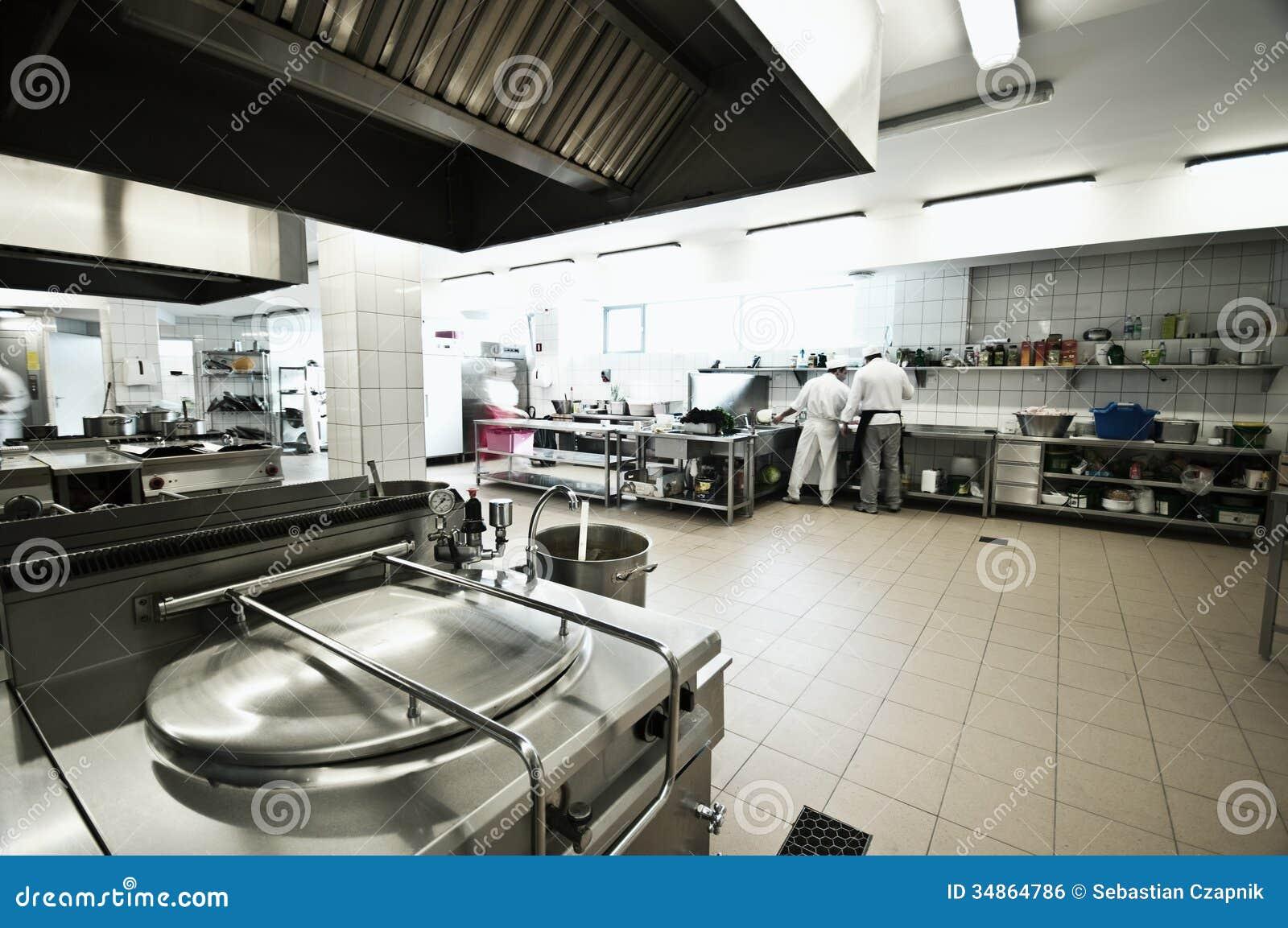 Industriele Keuken Industrial : Industriële keuken stock foto. afbeelding bestaande uit motie 34864786