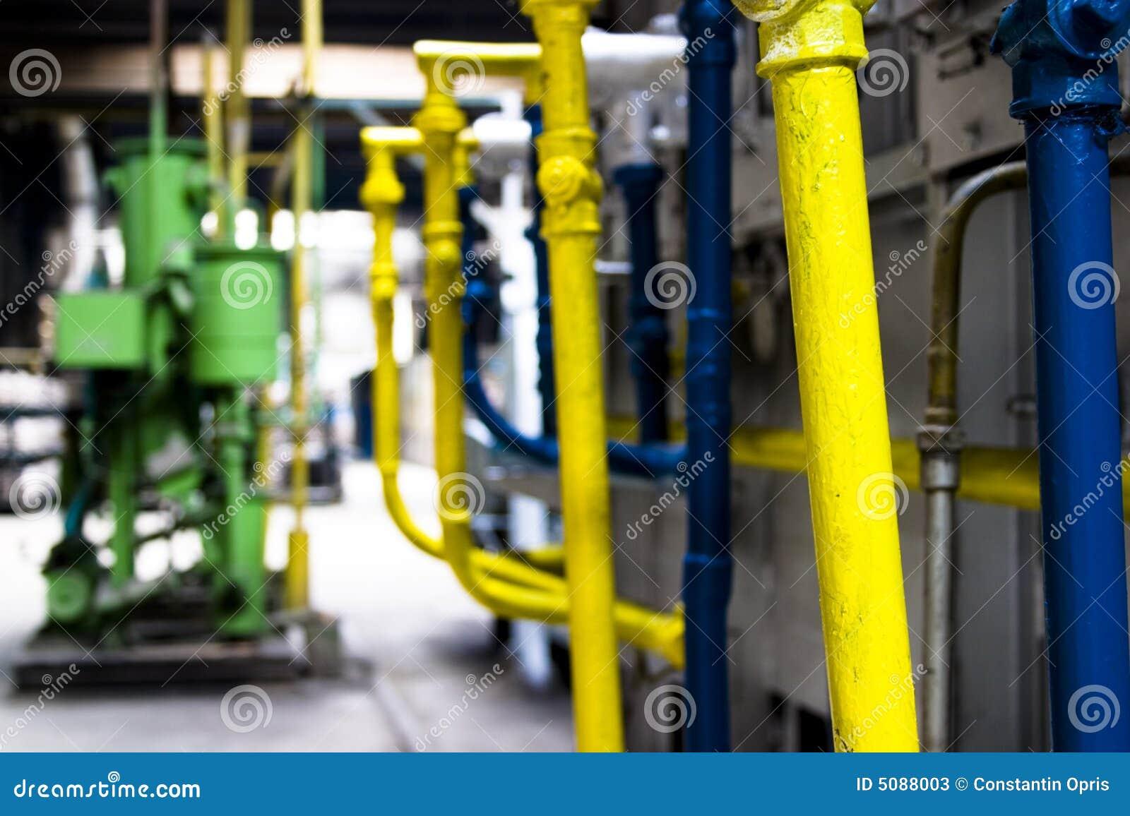 Industriële machines en pijpen