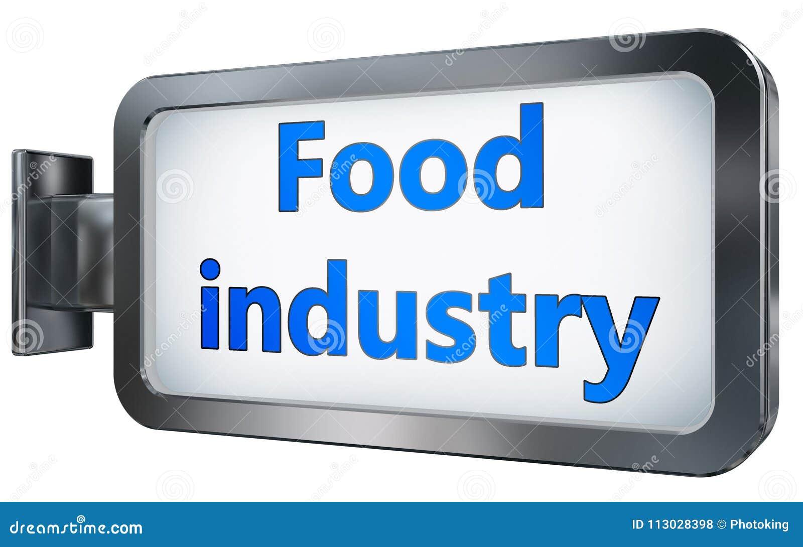 Industria alimentaria en fondo de la cartelera