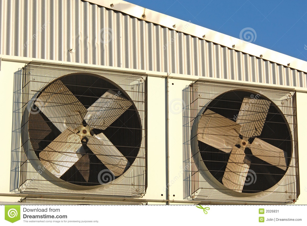 Industrial air conditioner and ventilation installation in plant. #82A229