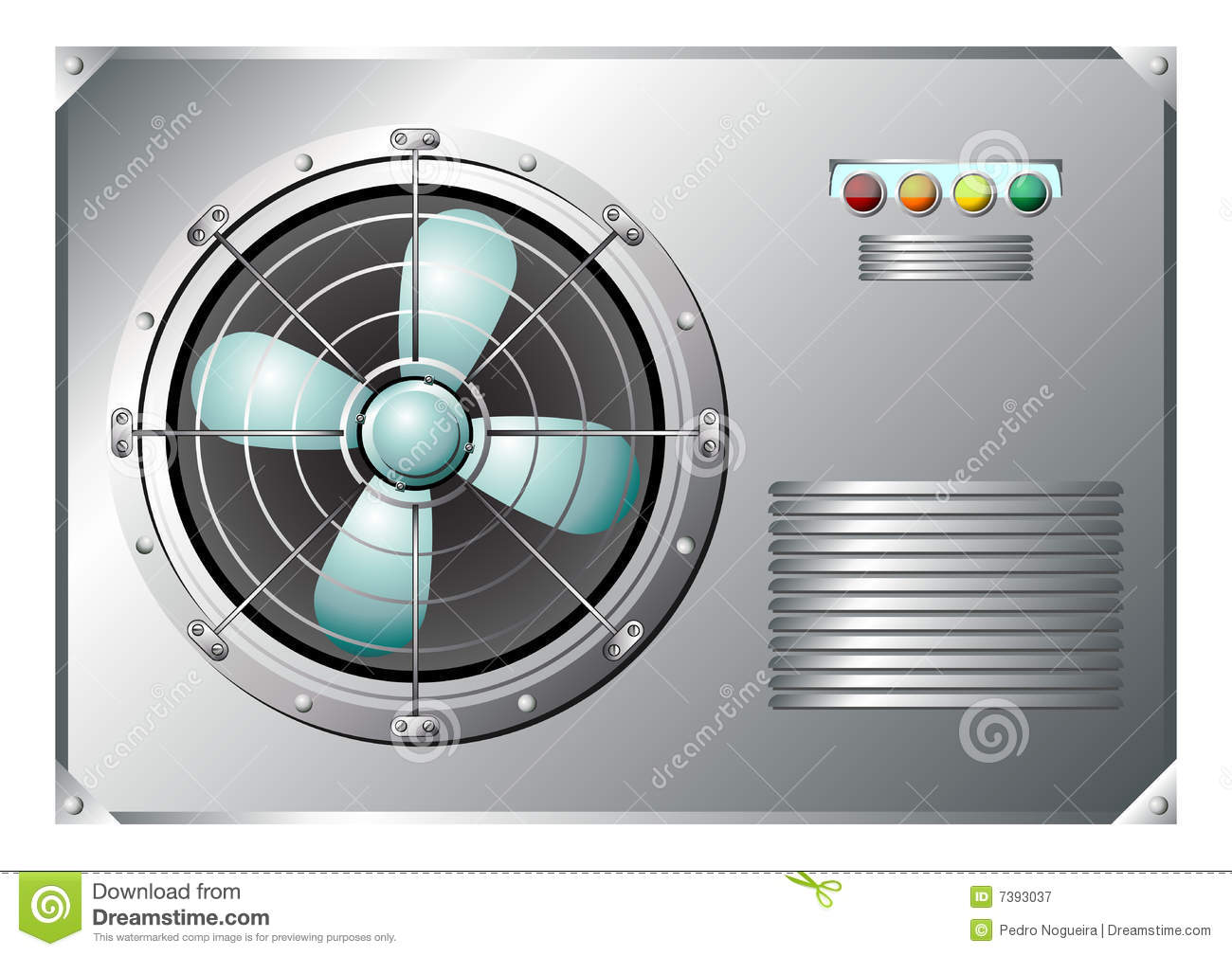 Industrial Air Conditioner Royalty Free Stock Photography Image  #82A328