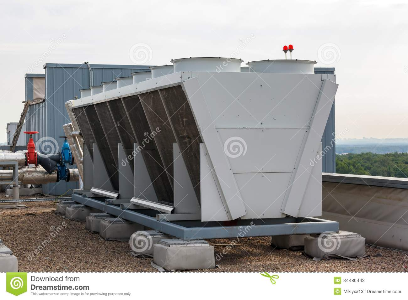 Industrial Air Conditioner On The Roof Stock Photos Image: 34480443 #5D4D43
