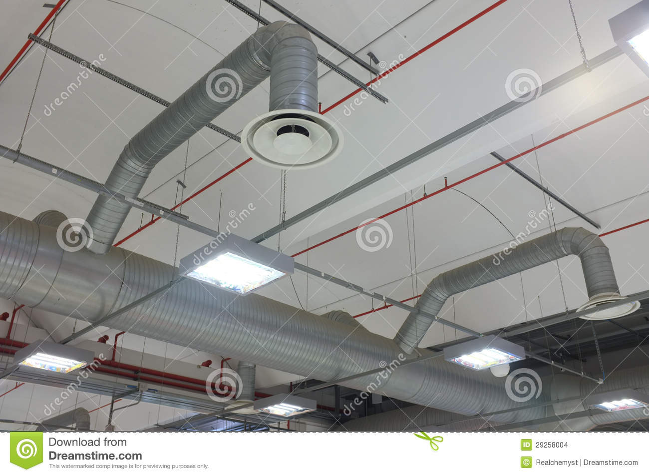 Industrial air conditioning system and air diffusers. #6F413C