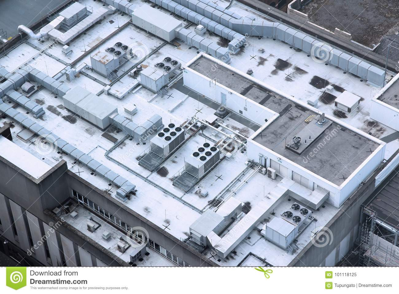 Industrial Building Ventiltors : Industrial air conditioning stock image of