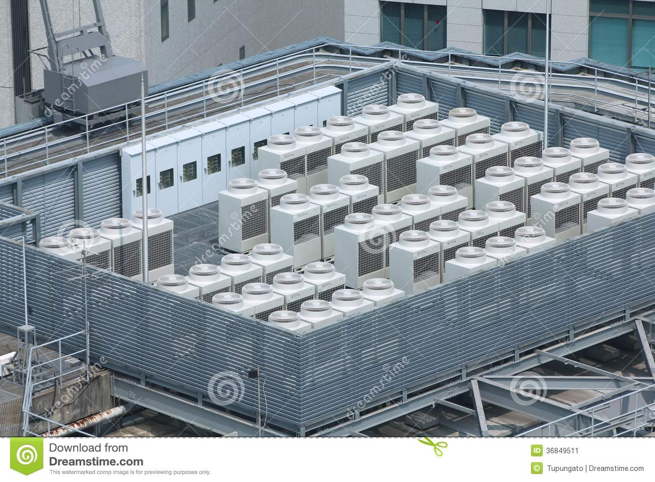 Exhaust vents of industrial air conditioning and ventilation units  #81A229