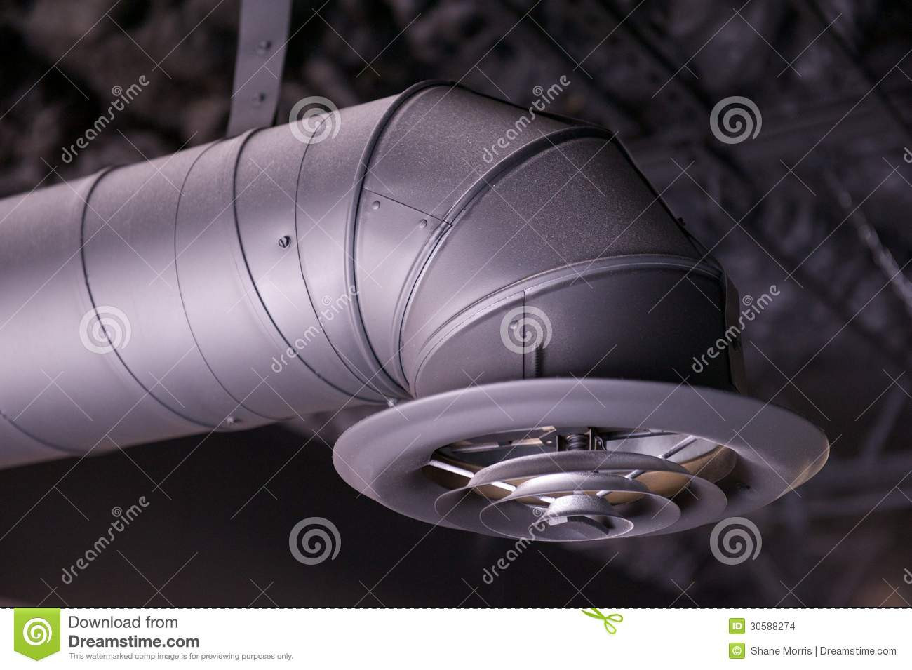 Industrial Ventilation Ducts : Industrial air duct and vent stock photo image