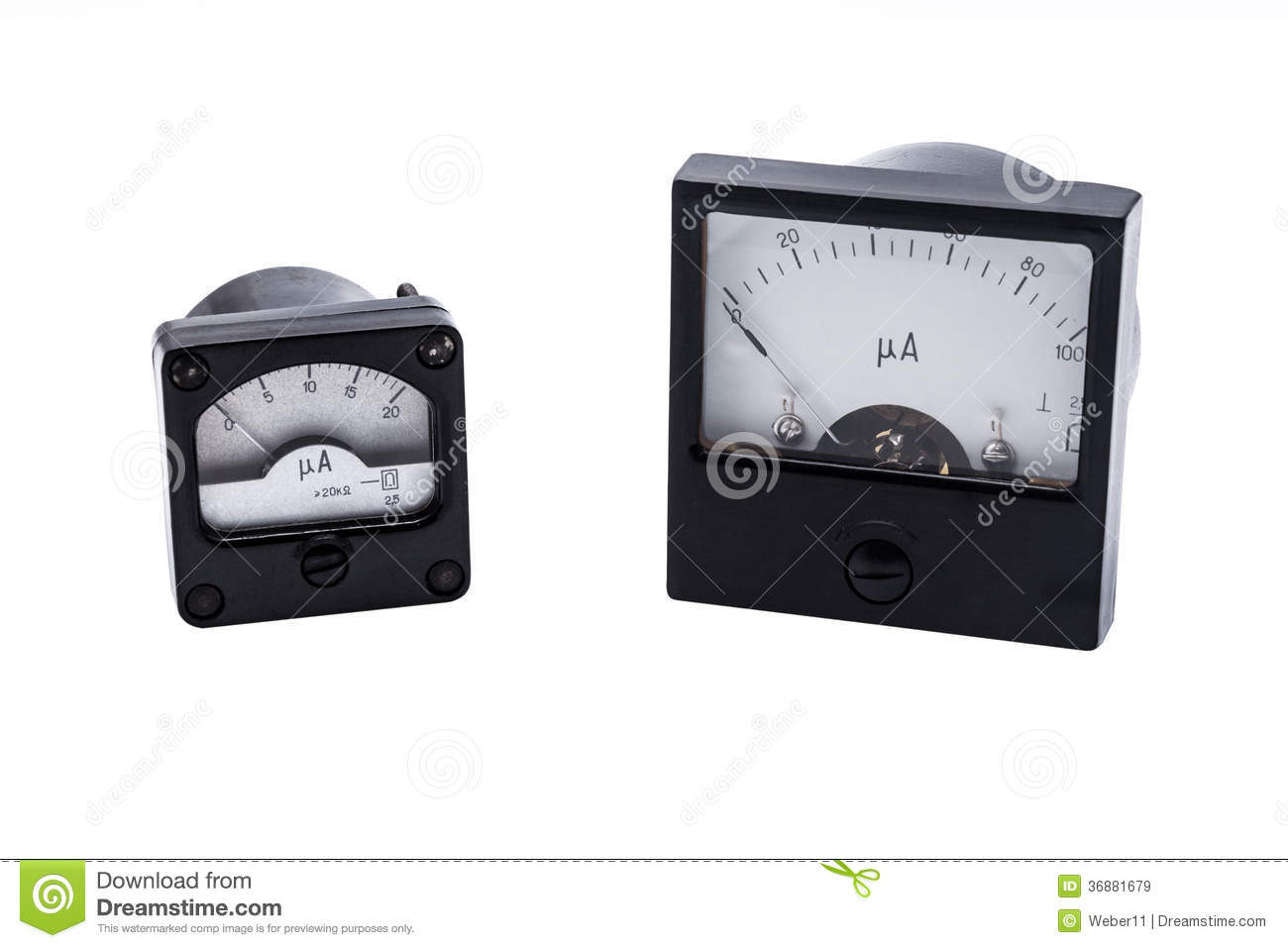 Analog Ammeter Animation : Industrial analog ammeter royalty free stock images