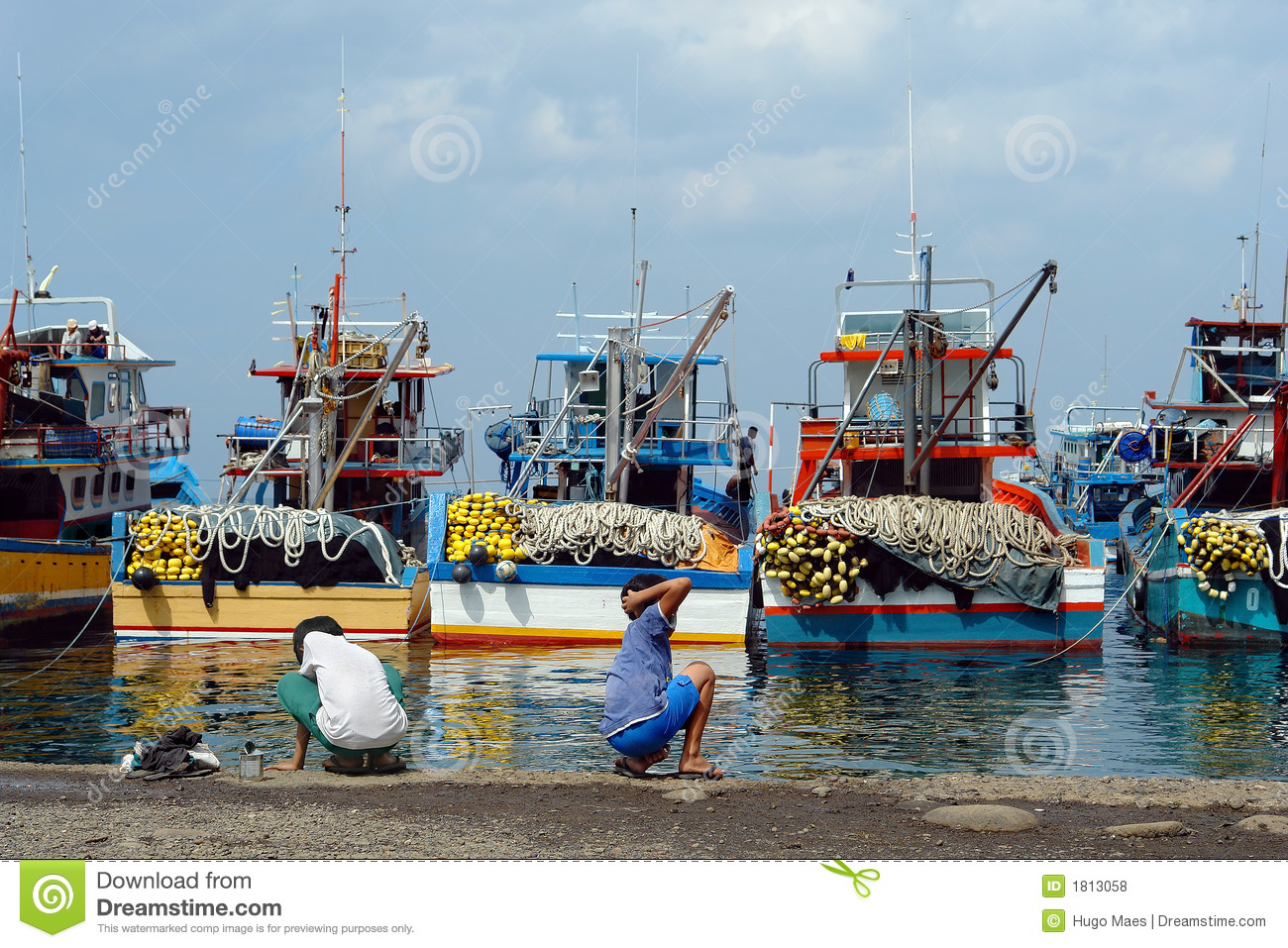 Industrial asian fishing port stock photo image 1813058 for Port a fishing