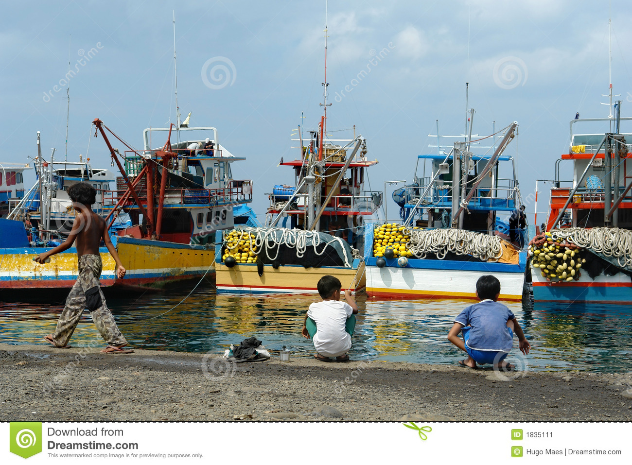 Industrial asian fishing port stock image image 1835111 for Port a fishing
