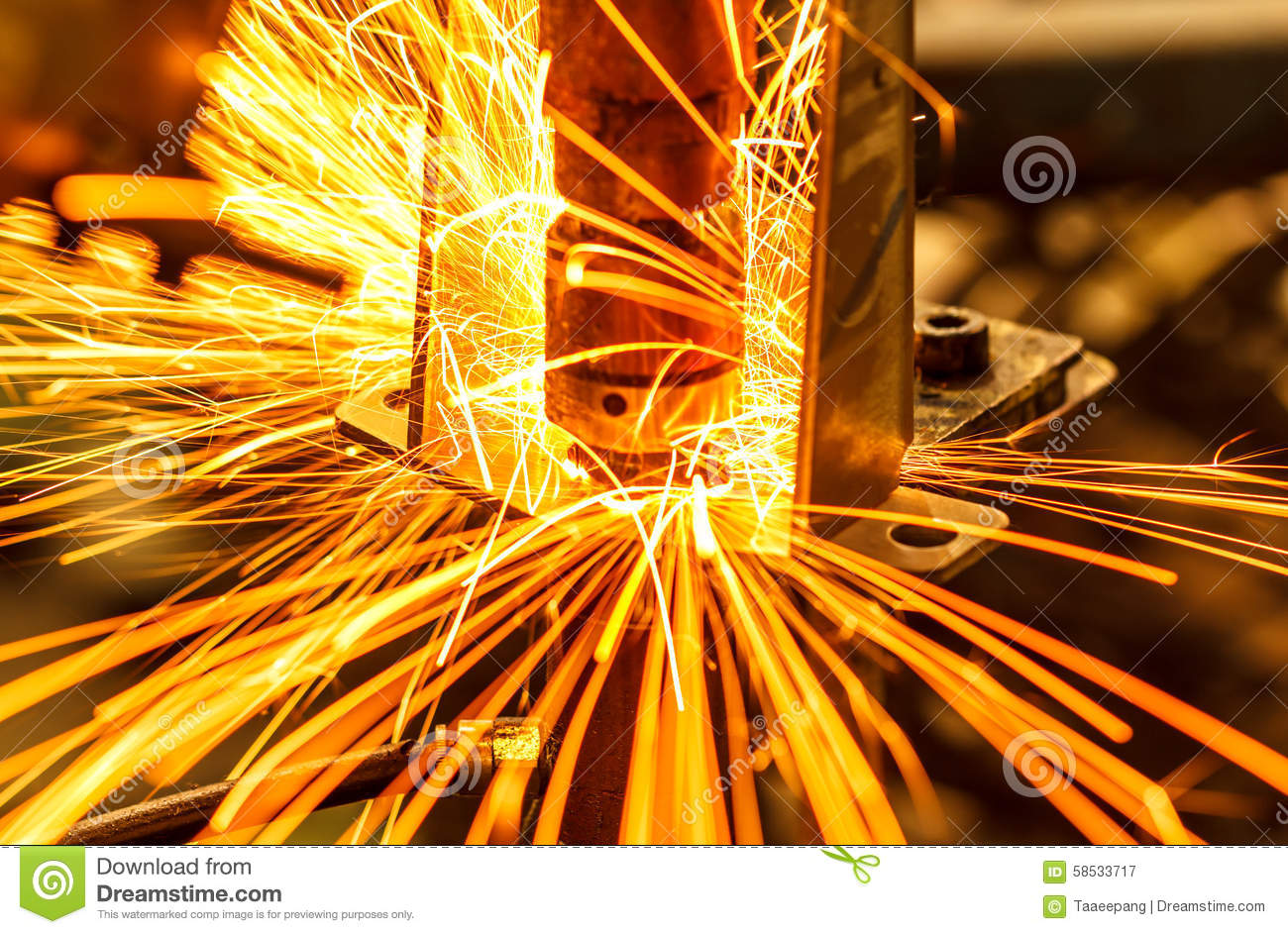 Industrial Automotive Spot Welding Stock Image Image