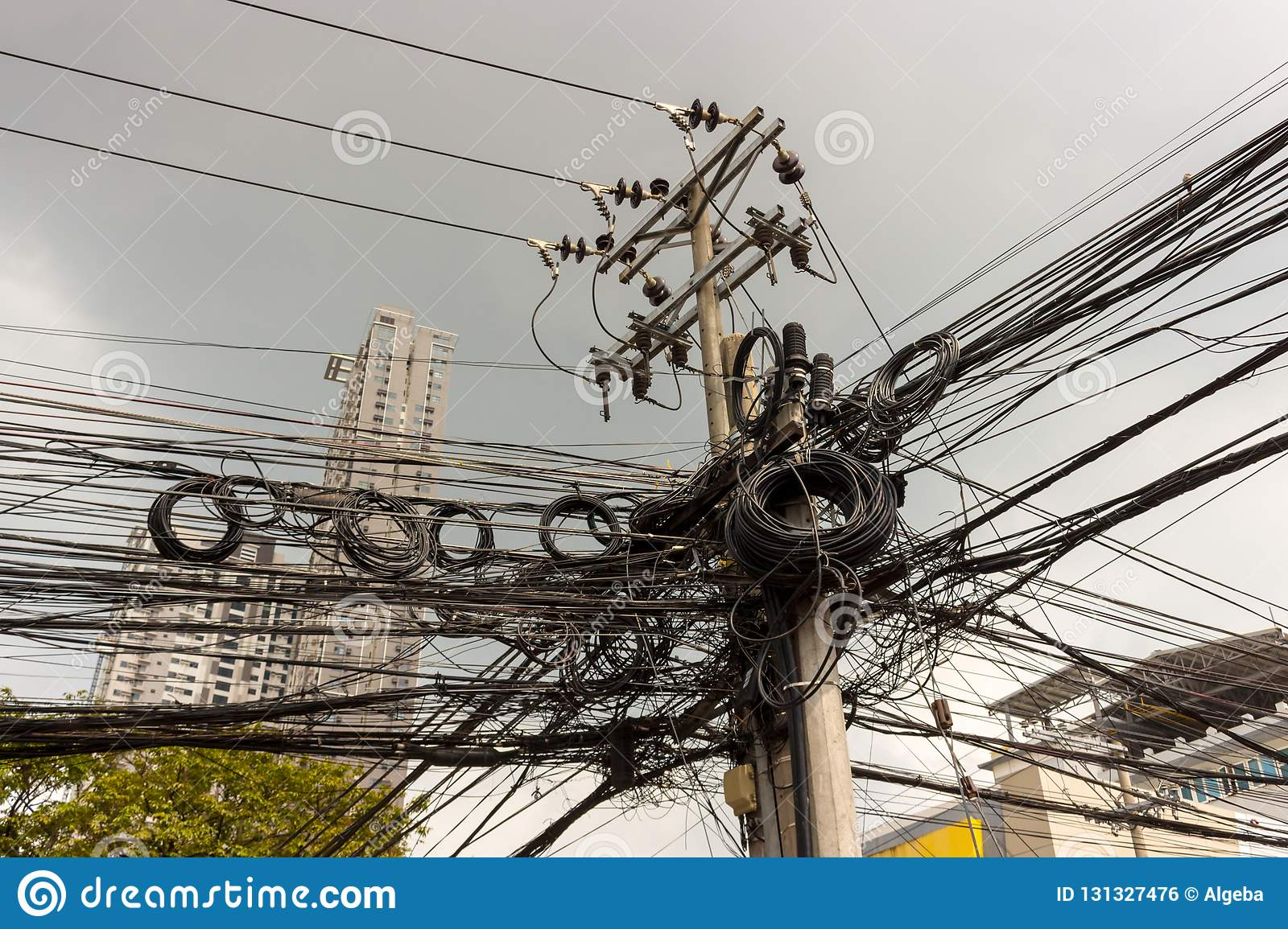 Messy Electrical Wires Stock Photo Image Of Energy 131327476