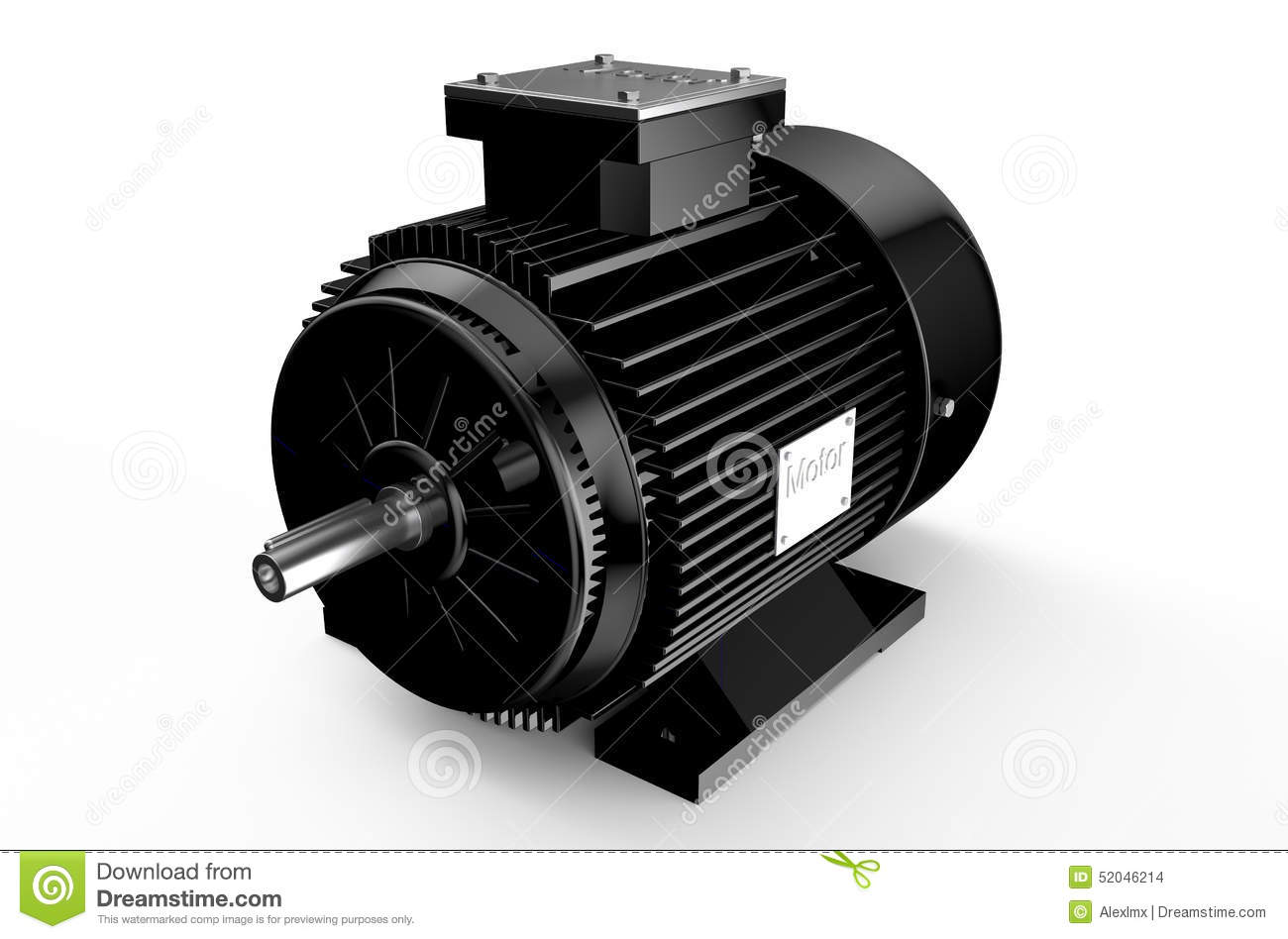 Industrial Black Electric Motor Stock Illustration Image