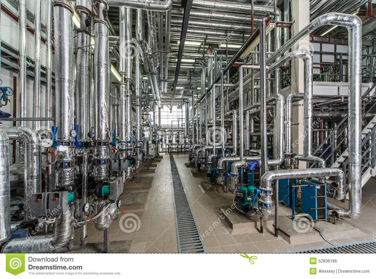 Industrial boiler interior with lots of pipes pumps and valves stock photo image 52836186 - Stock industriel bourges ...