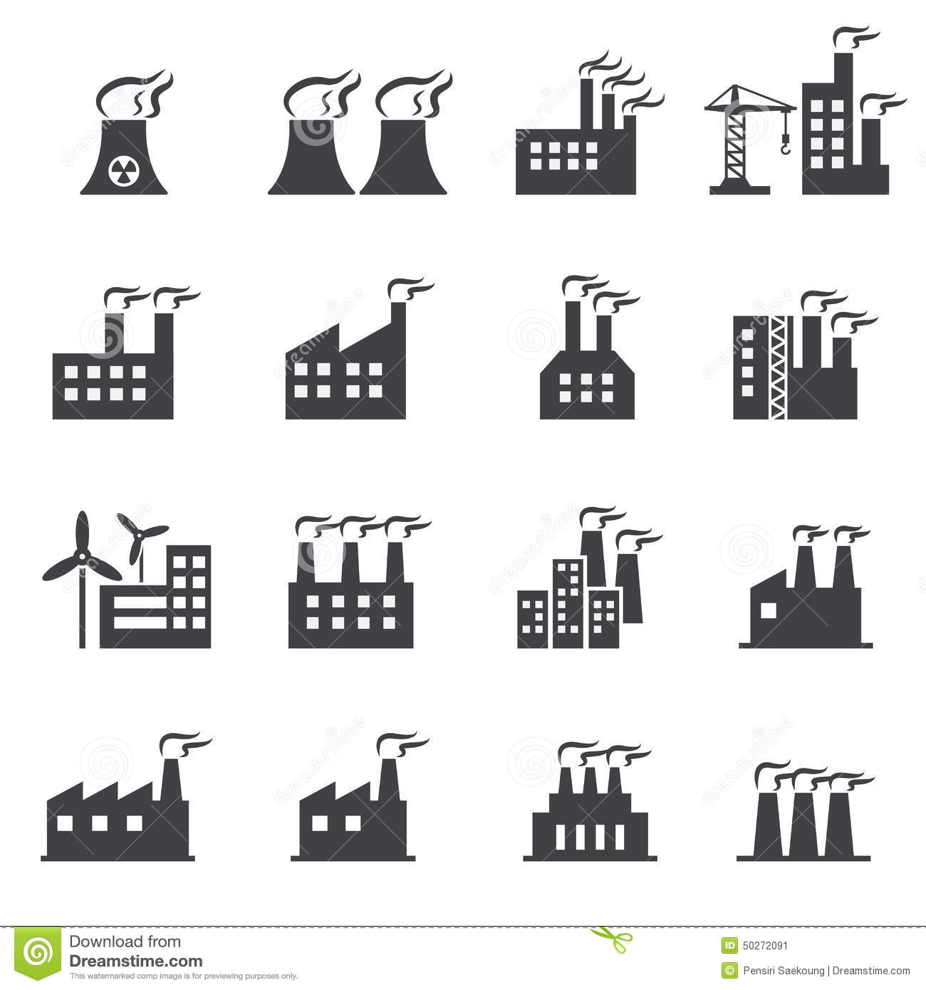 industrial building icon cartoon vector