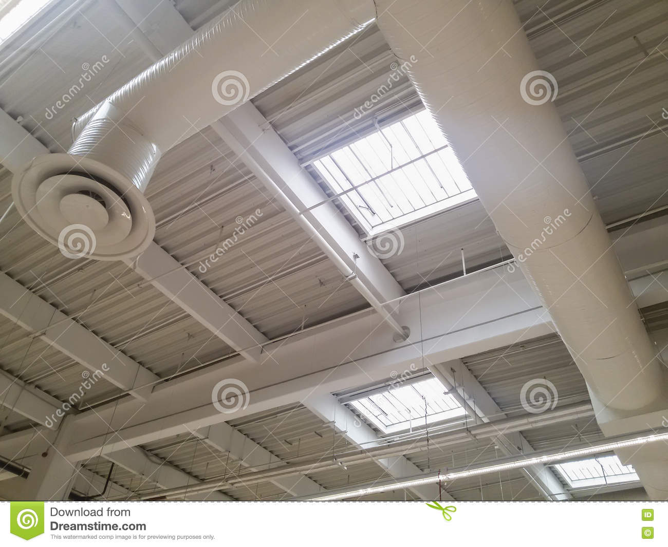 Industrial Building Ventiltors : Roof ventilation tubes on an outer