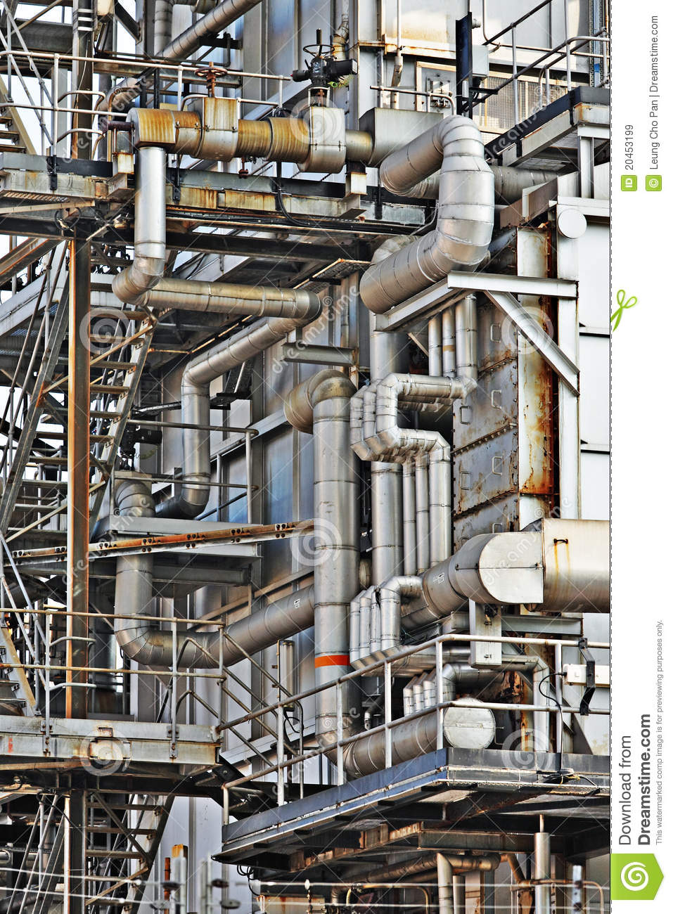 Industrial Steel Pipes : Industrial building steel pipe royalty free stock images