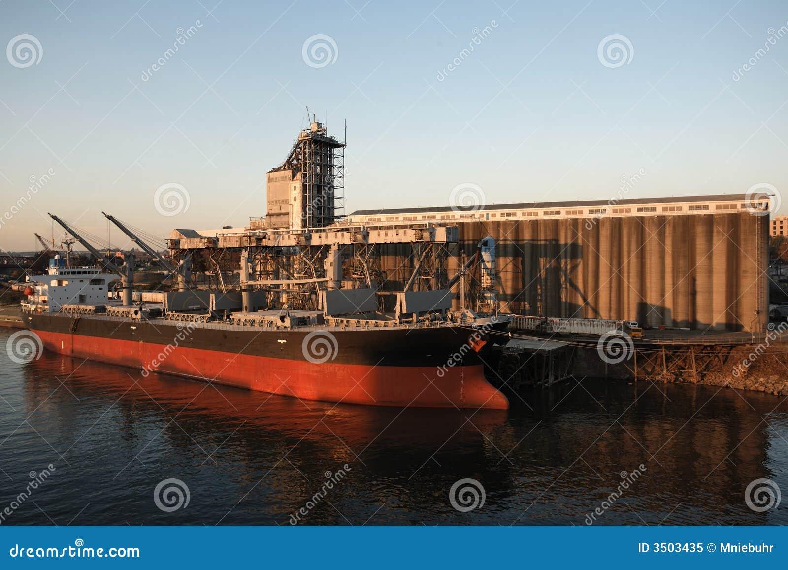 Industrial Ship In The Tyrrhenian Sea Stock Photography ...