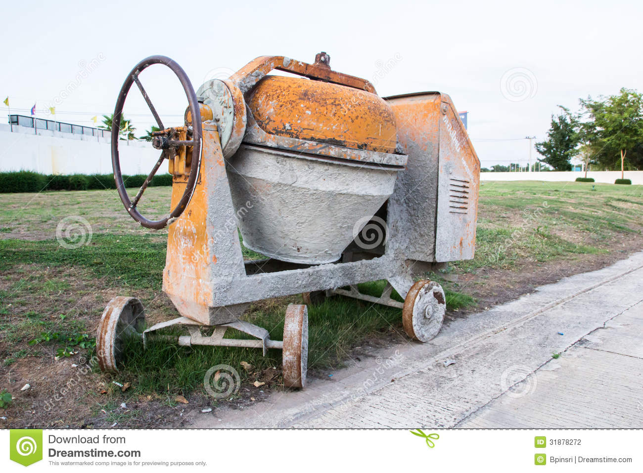 Industrial cement mixer machinery stock photo image for Cement mixer motor for sale