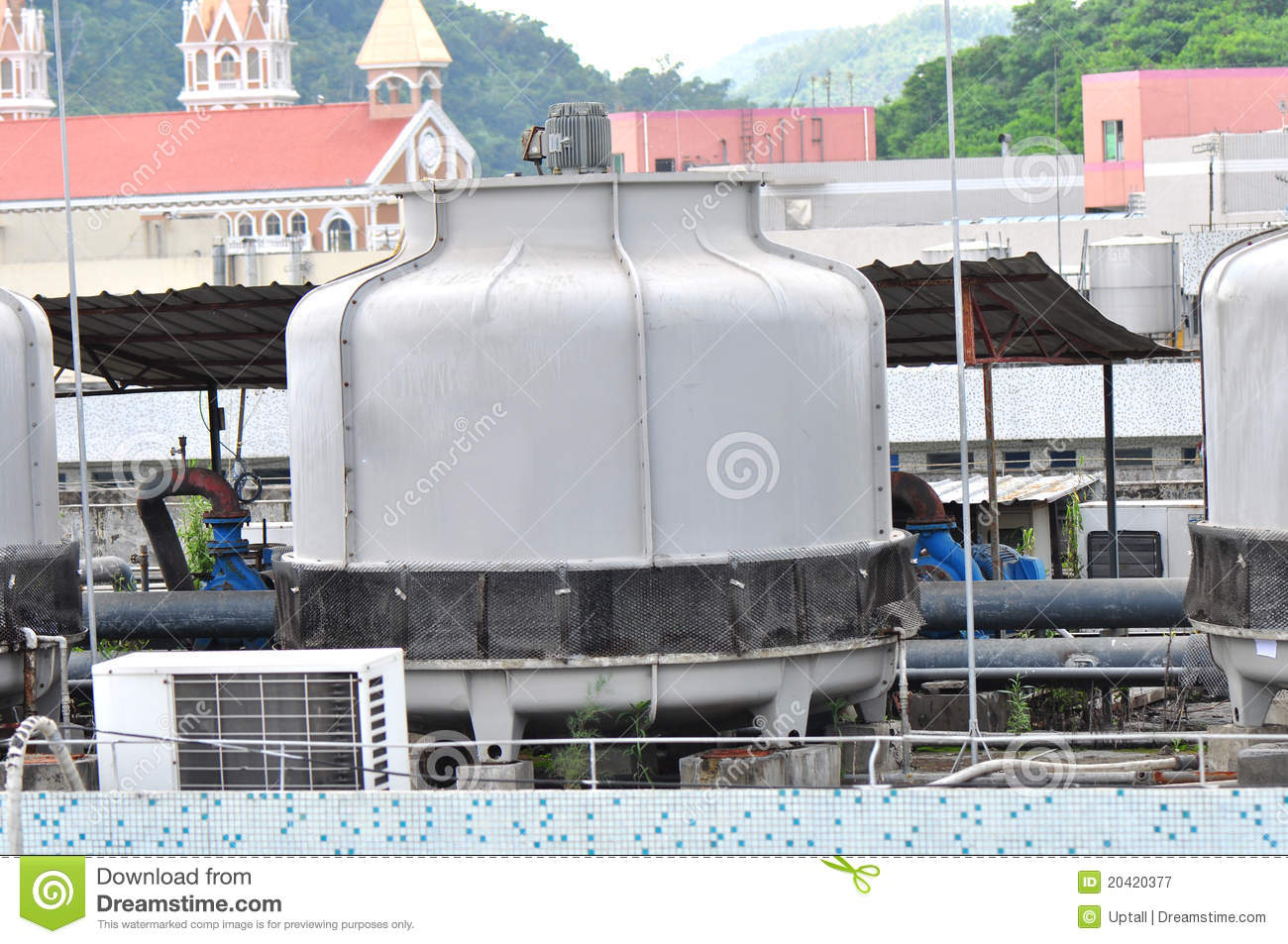 Industrial Central Cooling System Royalty Free Stock Photography  #A0472B