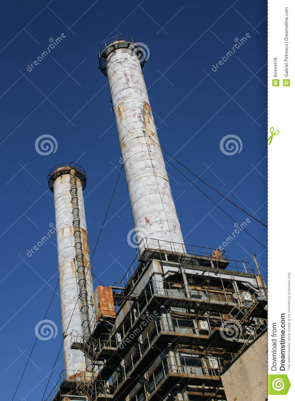 Industrial Chimney From A Thermoelectric Plant Editorial