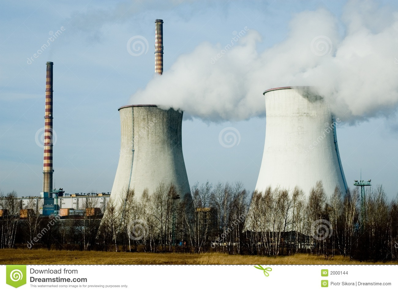 Industrial Chimneys Stock Images - Image: 2000144