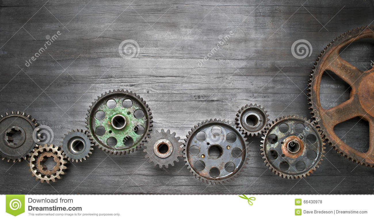 Industrial Cogs Banner Background Stock Photo Image