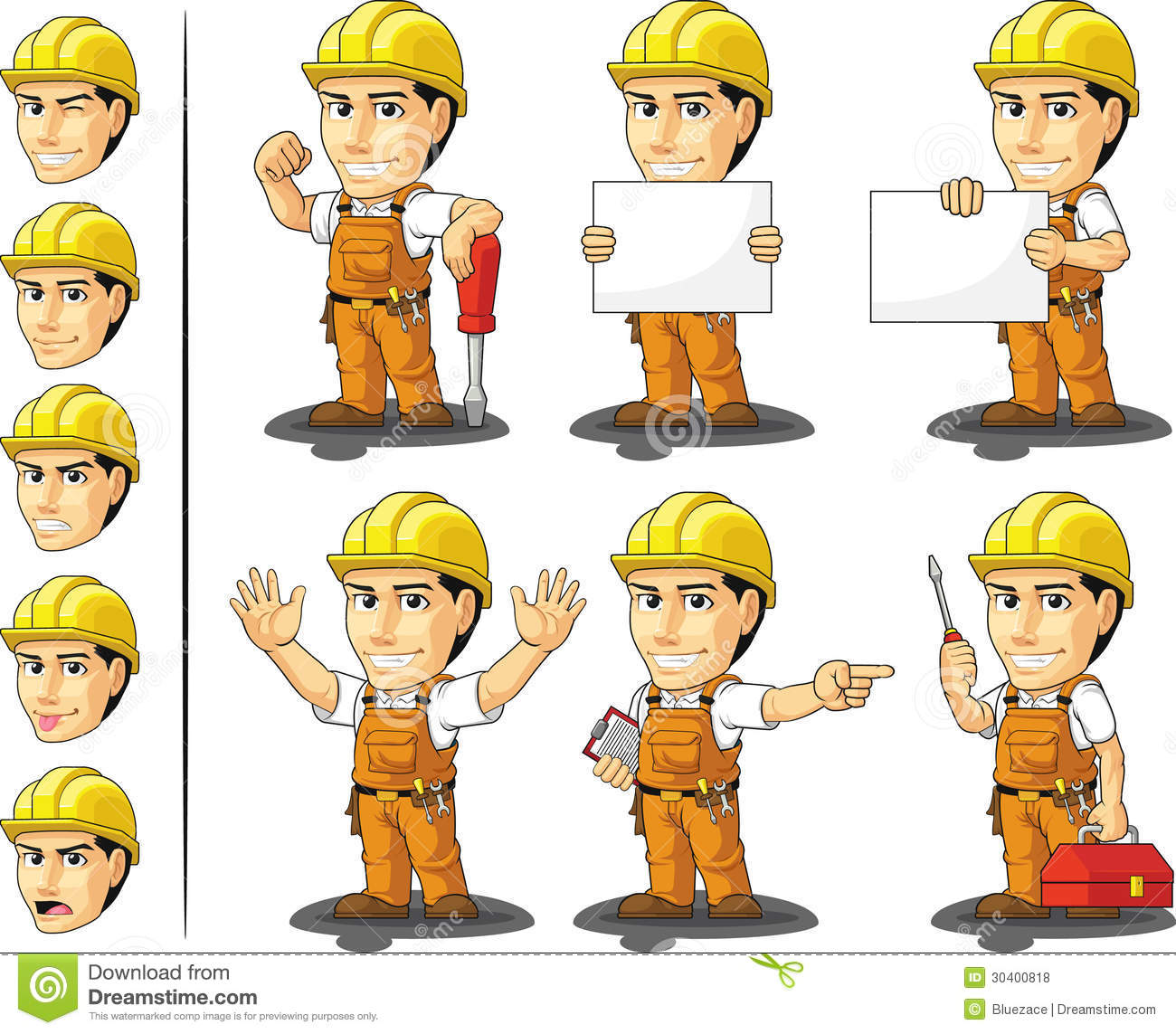 industrial construction worker mascot royalty stock photos industrial construction worker mascot